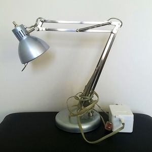 Light blue metallic desk lamp